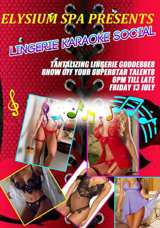 Lingerie Karaoki Social at Elysium Spa Randburg